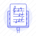 cleff, composition, music, musical, notation, note, sheet, stand, treble