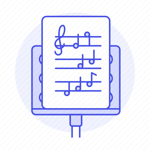 cleff, composition, music, musical, notation, note, sheet, stand, treble icon