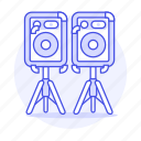1, dj, music, speakers icon