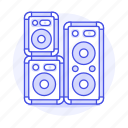 2, dj, music, speakers icon