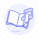 double, educational, genre, music, notation, note, playlist, theory icon