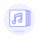 music, software, note, double, tracklist, playlist, bar, app, player, media