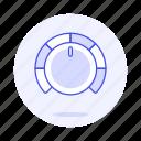 2, audio, control, dj, gain, knob, music, volume icon