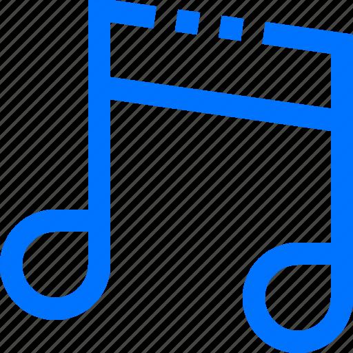 audio, music, note, ottava, quindicesima, song, sound icon