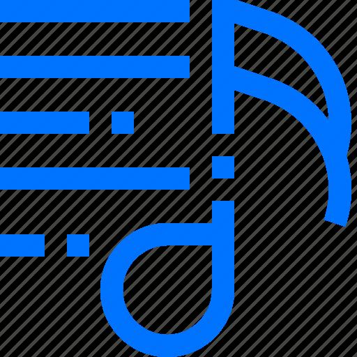 audio, media, music, play, queue, song, sound icon