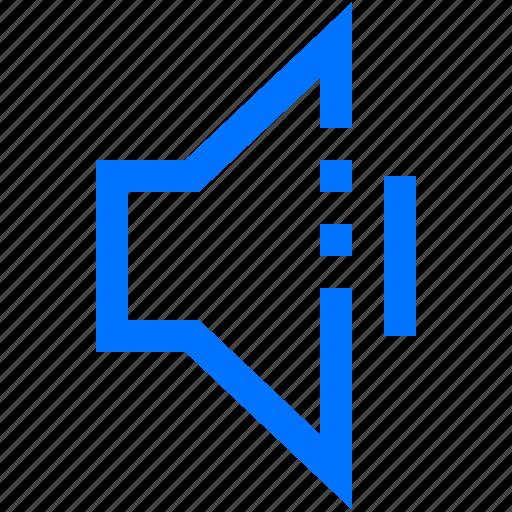 audio, first, level, music, sound, speaker, volume icon