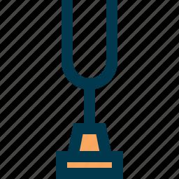 music, sound, tone, tune, tuning fork icon