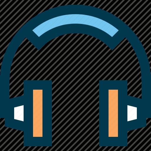 audio, headphones, listening, music, play, sound icon