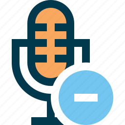 microphone, minus, record, sound, voice icon
