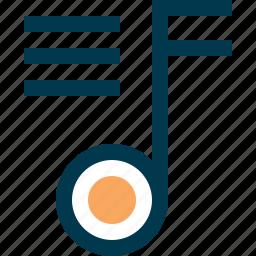 audio, list, music, note, playlist icon