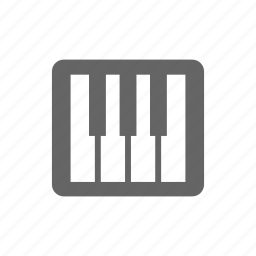 audio, instrument, key, music, piano icon