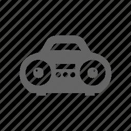 boombox, player, speaker icon
