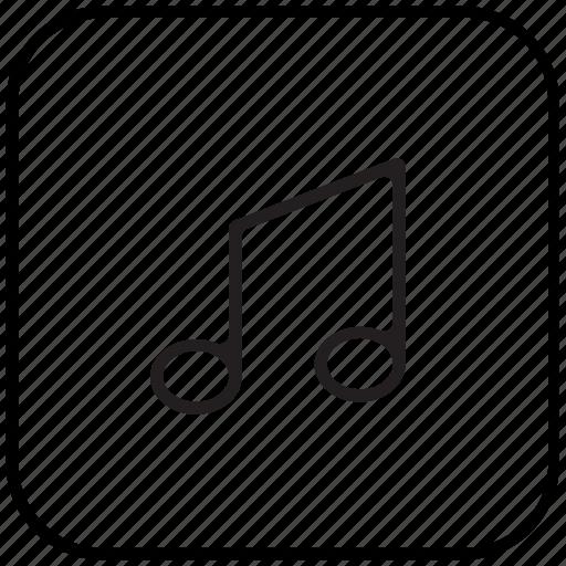 audio, music, music note icon