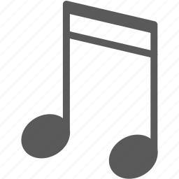 eighth note, note, sound icon