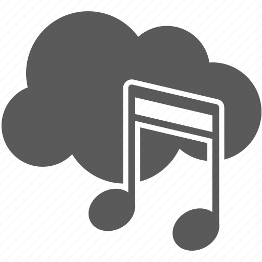 cloud, note, player, sound icon