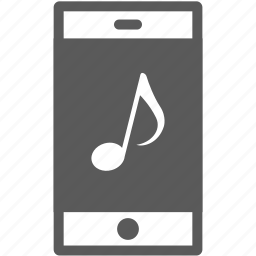 mobile, note, play, smartphone icon