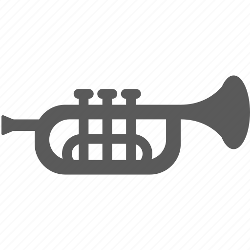 instrument, trumpet, wind instrument icon