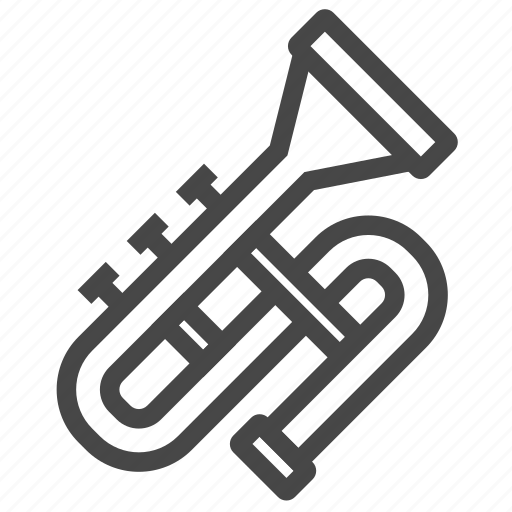 instrument, melody, music, trumpet icon