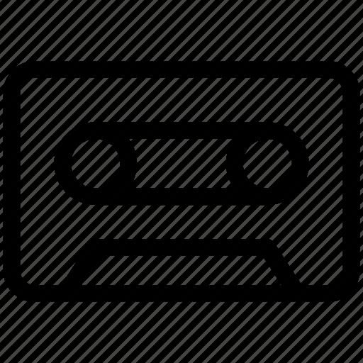 audiotape, cassette, tape, vhs, videotape icon