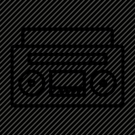 boombox, music, radio, tape icon