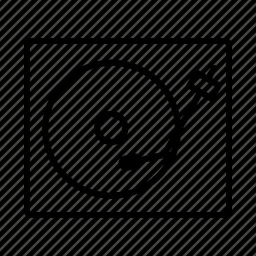 audio, music, turntable icon