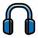 audio device, communication, earphone, headphone, headset icon