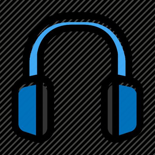 audio device, communication, earphone, headphone, headset icon