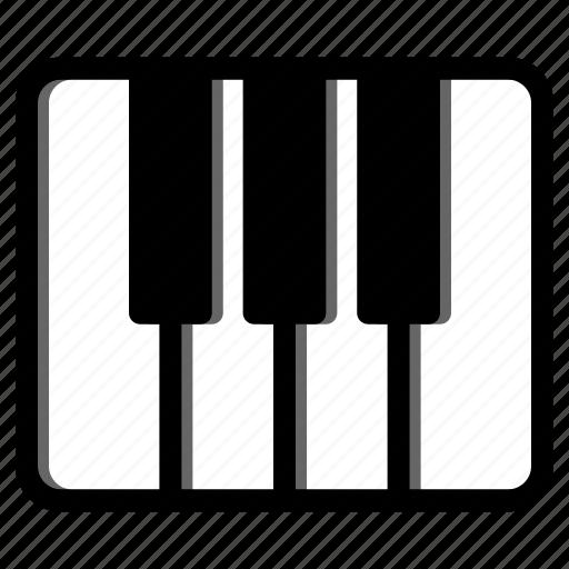 keyboard, keys, music instrument, orchestra, piano icon