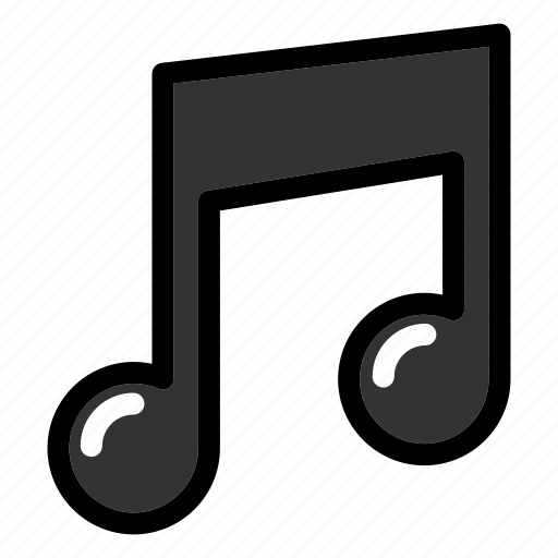 interface, melody, musical note, quaver, song icon