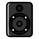audio device, loudspeaker, music, speaker, subwoofer icon