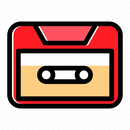 analog, audio, cassette, music, tape, vintage icon