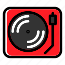 music player, portable, recorder, turntable, vinyl player icon