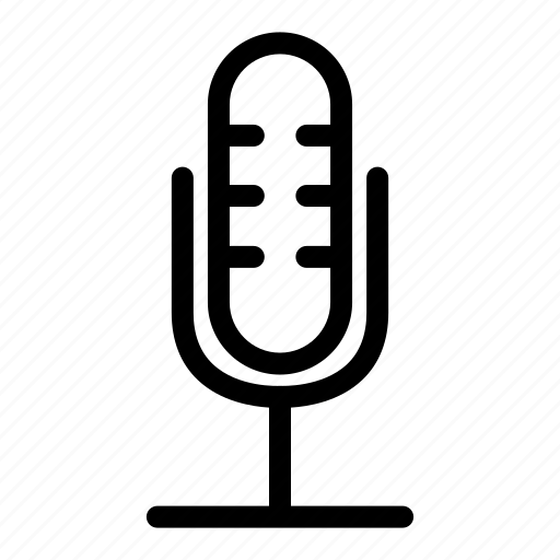 interface, microphone ui, music and multimedia, sound, voice recording icon