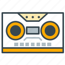 cassette, entertainment, music, play, record, sound, storage icon