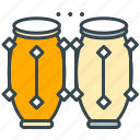 conga, entertainment, instrument, music, tribal icon