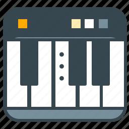 entertainment, keyboard, keys, music, piano icon
