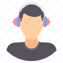 audio, boy, instrument, listening, music, musical, songs icon