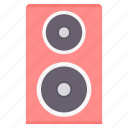 audio, multimedia, music, musical, sound, speaker, system icon