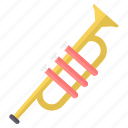 instrument, instruments, music, musical, sound, trumpet icon