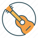 circle, guitar, instrument, music, musician icon