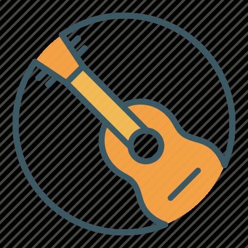 circle, guitar, instrument, music, musician icon