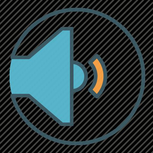 audio, level, low, quiet, sound, speaker, volume icon