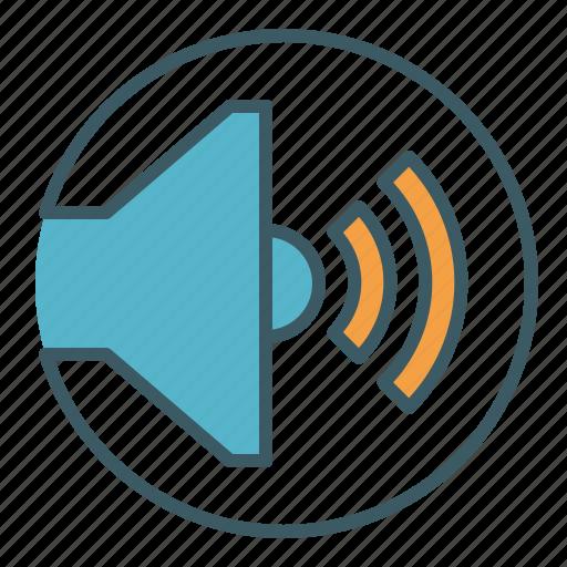 audio, circle, level, sound, speaker, volume icon