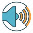 audio, circle, level, loud, sound, speaker, volume