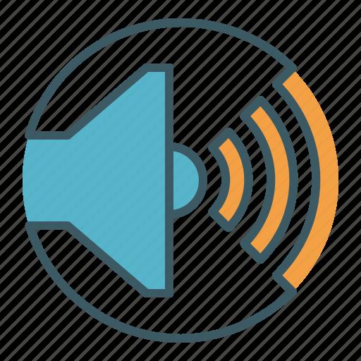 audio, circle, level, loud, sound, speaker, volume icon