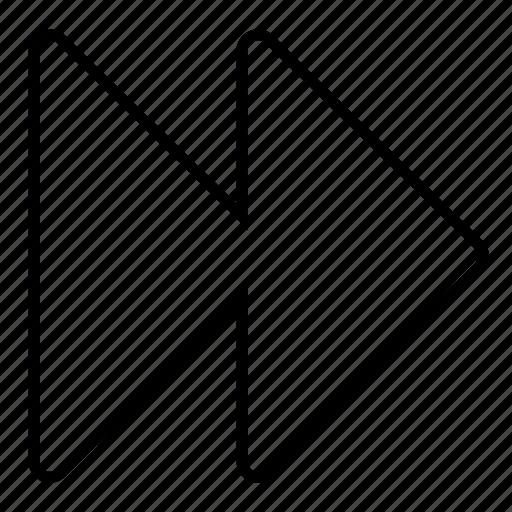 fast, forward, minimalist, multimedia, music, ui icon