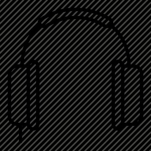 headphone, minimalist, multimedia, music icon