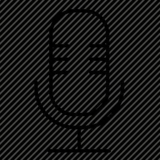 microphone, minimalist, music, sing, speak icon