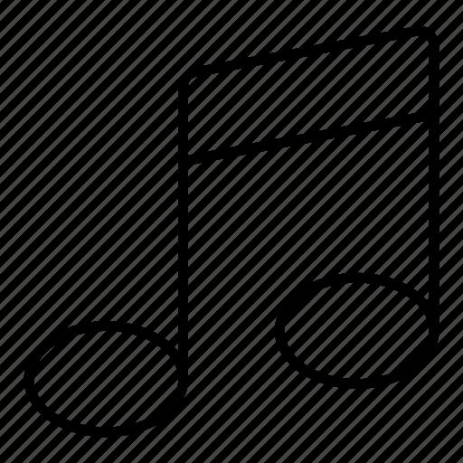 minimalist, music, music symbol, note icon