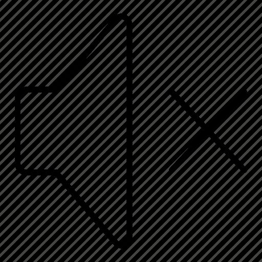 minimalist, music, mute, sound, speaker, ui, volume icon